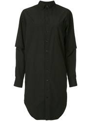 Bassike Lightweight Shirt Dress Black