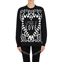 Givenchy Women's Power Of Love Sweatshirt Black White Blue Black White Blue