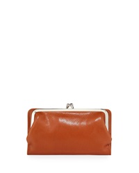 Hobo Diane Leather Continental Wallet Cognac