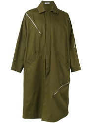 J.W.Anderson Button Up Coat Green