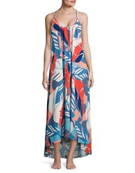 Vince Camuto Rainforest Printed Maxi Coverup Dress White