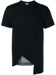 Comme Des Gara Ons Mesh Cut Out T Shirt Black
