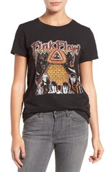 Lucky Brand Women's Studded Pink Floyd Graphic Tee