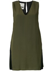 8Pm Slit Back Trim Fitted Dress Green