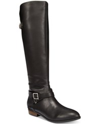 Material Girl Capri Wide Calf Riding Boots Only At Macy's Women's Shoes Black