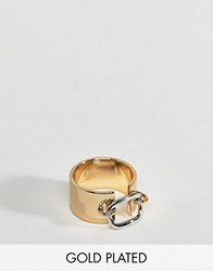 Fiorelli Gold Plated Chunky Loop Detail Ring