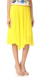 Loyd Ford Pleated Skirt Yellow