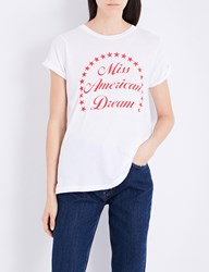 Wildfox Couture Miss American Dream Cotton Jersey T Shirt Clean White