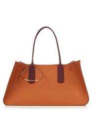 Roksanda Ilincic Contrast Handle Leather Tote Tan