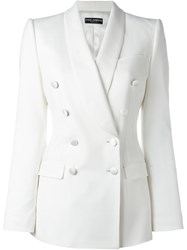 Dolce And Gabbana Double Breasted Blazer White