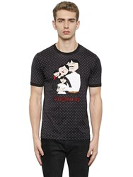 Dolce And Gabbana Family Patch Cotton Jersey T Shirt