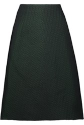 M Missoni Metallic Jacquard Skirt Emerald