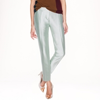 J.Crew Collection Cafe Capri In Pintucked Heavy Shantung
