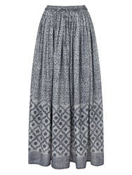 East Tile Print Skirt Blue