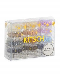 Neiman Marcus Kitsch Three Pack 24 Piece Assorted Hair Coil Gift Set Multi