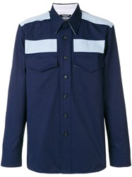 Calvin Klein 205W39nyc Colour Block Fitted Shirt Blue