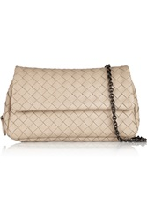Bottega Veneta Messenger Mini Intrecciato Leather Shoulder Bag