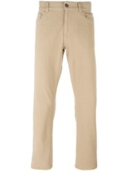 Canali Regular Jeans Nude And Neutrals