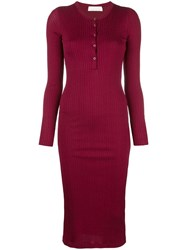 Fleur Du Mal Ribbed Knit Midi Dress 60