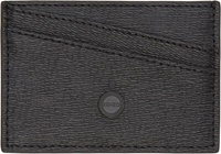 Kenzo Black Textured Leather Card Holder