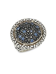 John Hardy Naga Sapphire And Sterling Silver Ring