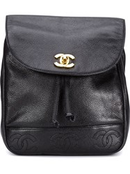 Chanel Vintage Cc Backpack Black