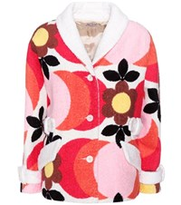 Miu Miu Printed Cotton Jacket Multicoloured