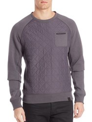 Victorinox Quilted Long Sleeve Pullover Admiral Grey