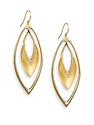 Alexis Bittar Lucite Marquis Orbital Drop Earrings Gold