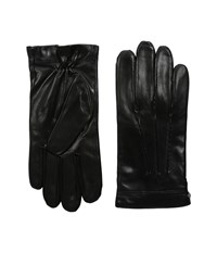 Cole Haan Spliced Leather Glove Black Over Mits Gloves