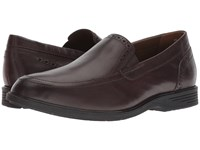 Hush Puppies Shepsky Slip On Dark Brown Leather Shoes