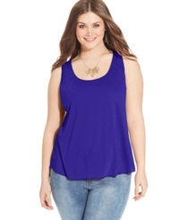 American Rag Plus Size Racerback Tank Top Surf The Web