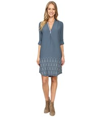 Hatley Shirtdress Embroidered Arrow Women's Dress Blue