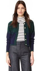 Wgaca Chanel Cashmere Cardigan Previously Owned Green Blue
