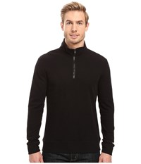 Threads For Thought 1 2 Zip Thermal Mock Neck Black Men's Clothing