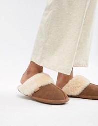Just Sheepskin Mule Slippers Tan