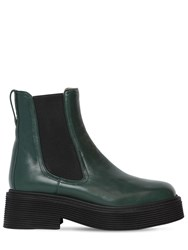 Marni 40Mm Millerighe Leather Ankle Boots Green
