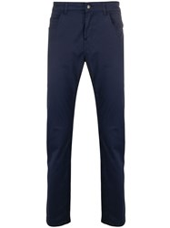 Fay Straight Leg Chinos Blue