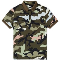 Valentino Camouflage Polo Green