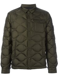 Moncler Quilted Padded Jacket Green