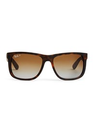 Ray Ban Polarized Justin Sunglasses Large Rb4165 865 T5 Brown