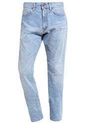 Carhartt Wip Vicious Madera Jeans Tapered Fit Blue True Bleached Bleached Denim
