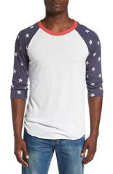 Alternative Apparel Men's Print Baseball T Shirt