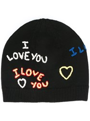 Kenzo 'I Love You' Beanie Black