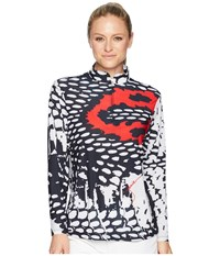 Jamie Sadock Sunsense R Lightweight Serpentine Print 1 4 Zip Long Sleeve Top With 50 Spf Hot Chili Long Sleeve Pullover Red