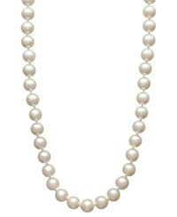 Belle De Mer Pearl Necklace 18' 14K Gold Akoya Cultured Pearl Strand 7 7 1 2Mm