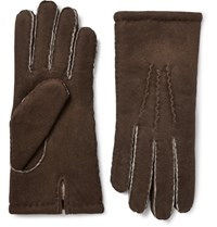 Dents York Shearling Gloves Brown