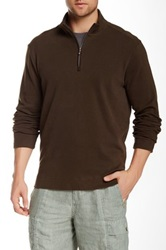 Tommy Bahama New Eversuede Half Zip Pullover Brown