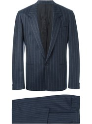 E. Tautz Suit With Pleated Trousers Blue
