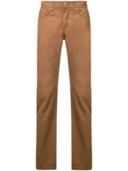 Naked And Famous Straight Leg Jeans Brown